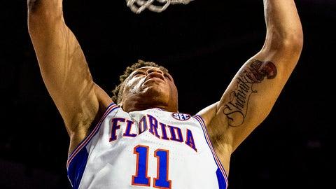 <p>               Florida forward Keyontae Johnson (11) dunks during an NCAA college basketball game against Missouri, Saturday, Feb. 23, 2019. (Lauren Bacho/The Gainesville Sun via AP)             </p>