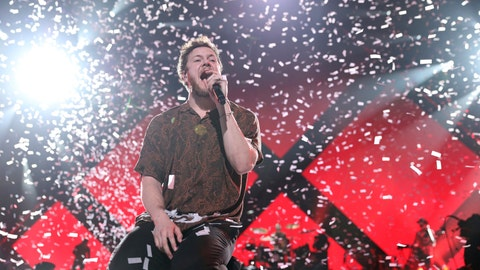 <p>               FILE- In this Feb. 1, 2018, file photo Imagine Dragons perform at the EA Sports Bowl at The Armory in Minneapolis. Imagine Dragons will perform at the Pro Football Hall of Fame to help kick off the NFL's 100th season. The Hall announced Tuesday, Feb. 19, 2019, that the alternative-rock band will headline the Concert for Legends on Aug. 4. (Photo by Omar Vega/Invision/AP, File)             </p>