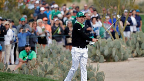 <p>               Justin Thomas hits from the second fairway during the third round of the Phoenix Open PGA golf tournament, Saturday, Feb. 2, 2019, in Scottsdale, Ariz. (AP Photo/Matt York)             </p>