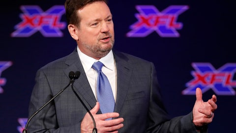 <p>               Bob Stoops speaks after being introduced as the new head coach and general manager of the XFL Dallas football team during a news conference in Arlington, Texas, Thursday, Feb. 7, 2019. (AP Photo/Tony Gutierrez)             </p>