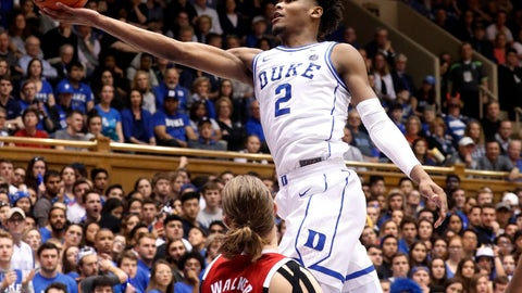 <p>               FILE - In this Feb. 16, 2019, file photo, Duke's Cam Reddish (2) drives to the hoop against North Carolina State's Wyatt Walker (33) during the second half of an NCAA college basketball game, in Durham, N.C. Duke has reclaimed the No. 1 spot in the AP Top 25 college basketball poll. The Blue Devils earned 58 of 64 first-place votes in Monday's, Feb. 18, 2019, poll to earn a third stint at the top this season. (AP Photo/Chris Seward, File)             </p>