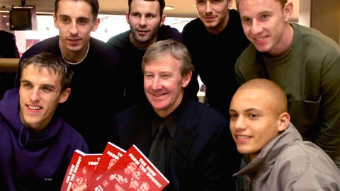 "<p>               FILE - In this March 1, 2001 file photo, Eric Harrison, centre, poses for a photo with Manchester United players from left, Gary Neville, Phil Neville, Ryan Giggs, David Beckham, Nicky Butt and Wes Brown during his book launch, at Old Trafford, in Manchester, England. Harrison, the Manchester United youth team manager who launched the career of David Beckham as part of the renowned group of ""Class of 92"" players, has died, it was reported on Thursday, Feb. 14, 2019.  (Rui Vieira/PA via AP, File)             </p>"