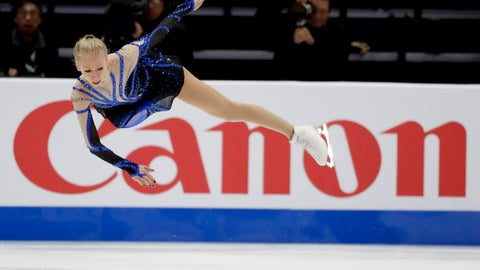 <p>               Bradie Tennell, of the United States, skates during the women's short program at the Four Continents Figure Skating Championships on Thursday, Feb. 7, 2019, in Anaheim, Calif. (AP Photo/Chris Carlson)             </p>