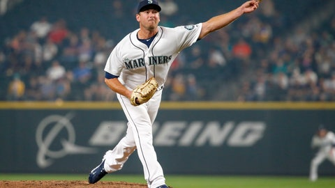 <p>               FILE - In this Aug. 21, 2018, Seattle Mariners relief pitcher Zach Duke throws out a pitch against the Houston Astros during the ninth inning of a baseball game in Seattle. A person familiar with the discussions tells The Associated Press that the Cincinnati Reds are working to complete a deal with Duke that would add the left-hander to their bullpen. (AP Photo/Jennifer Buchanan, File)             </p>
