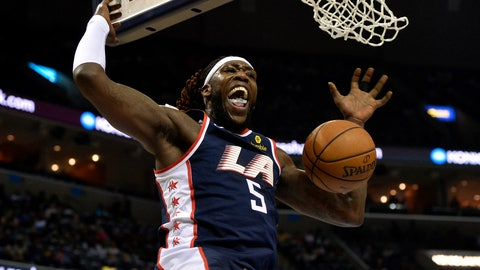 <p>               Los Angeles Clippers forward Montrezl Harrell (5) dunks in the first half of an NBA basketball game against the Memphis Grizzlies, Friday, Feb. 22, 2019, in Memphis, Tenn. (AP Photo/Brandon Dill)             </p>
