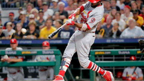 <p>               FILE - In this Aug. 3, 2018, file photo, St. Louis Cardinals' Dexter Fowler hits a single off Pittsburgh Pirates starting pitcher Chris Archer to drive in Tyler O'Neill during the fifth inning of a baseball game in Pittsburgh. Fowler is entering the third season of a five-year, $82 million contract. An All-Star with Chicago in 2016 when he posted a .393 on-base percentage to help lead the Cubs to their first World Series title in more than a century, Fowler scored 186 runs during a two-year stint with Chicago prior to joining St. Louis. (AP Photo/Keith Srakocic, File)             </p>
