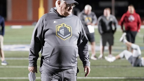 <p>               FILE - In this Jan. 11, 2019, photo released by the Alliance of American Football, San Diego Fleet head coach Mike Martz walks on a field as players stretch in San Antonio. Nearly 51 years ago, Martz took his future wife, Julie, on their first date to watch Don Coryell's San Diego State Aztecs at what was then called San Diego Stadium. On Sunday night, he'll be back at the aging stadium, coaching the San Diego Fleet of the Alliance of American Football. (Alliance of American Football via AP, File)             </p>