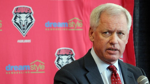 <p>               FILE - In this May 3, 2017, file photo, then-University of New Mexico athletics director Paul Krebs answers questions during a news conference in Albuquerque, N.M. Krebs has been charged with fraud and money laundering. The New Mexico Attorney General's Office filed a criminal complaint Wednesday, Feb. 6, 2019, against Krebs in connection with a 2015 golf trip to Scotland and allegations he tried to conceal a $25,000 donation. (AP Photo/Susan Montoya Bryan, File)             </p>