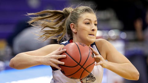 <p>               In this March 17, 2017, photo, Gonzaga's Laura Stockton runs through a drill at a practice before the team's first round NCAA tournament college basketball game against Oklahoma, in Seattle. Stockton, whose older brother David was a guard for the Zags before playing in the NBA and overseas, is a key contributor. She averages 8.4 points and 4 assists per game and has 42 steals this season. She is currently ranked fourth in team history in assists.  Laura learned the game from her father, the master of the assist. (AP Photo/Elaine Thompson, File)             </p>