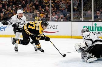 Bergeron scores OT winner to lift Bruins past Kings 5-4