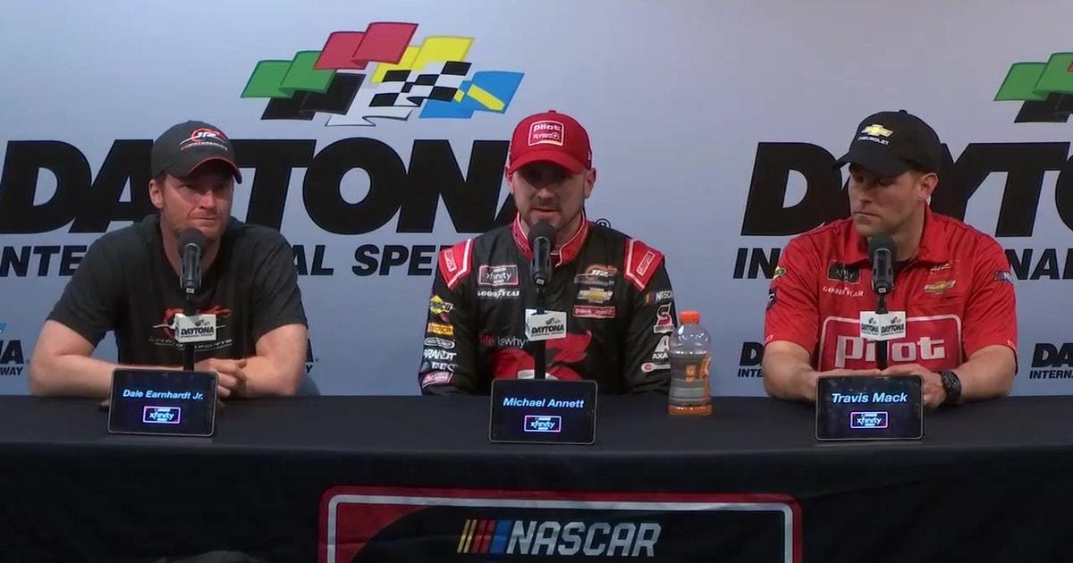 Dale Earnhardt Jr., Michael Annett's full press conference after Annett's Xfinity win | DAYTONA 500