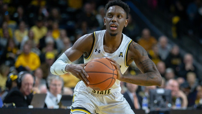 Samajae Haynes-Jones hits a runner to win it at the buzzer for the Shockers 65-63