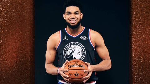 Karl-Anthony Towns, Wolves center (↑ UP)