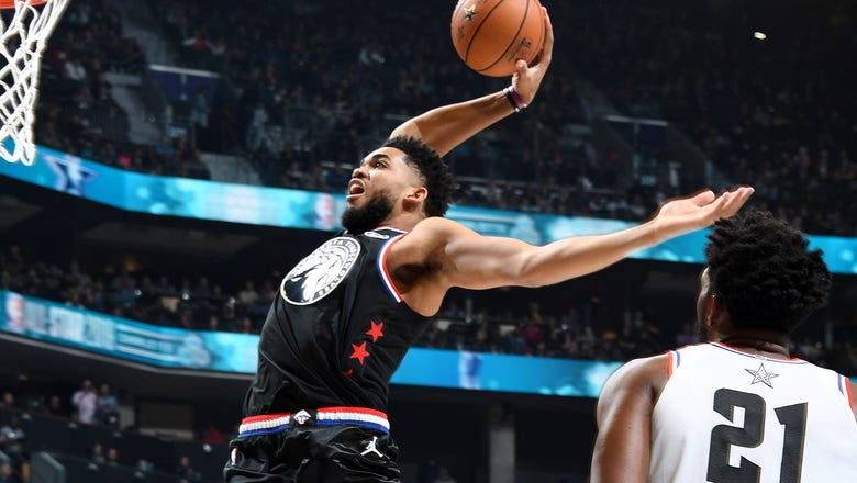 Wolves' Towns scores 11 points, Team LeBron wins All-Star Game
