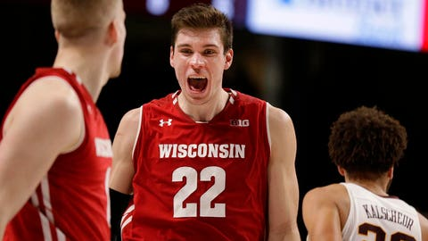 Ethan Happ, Badgers forward (⬆ UP)