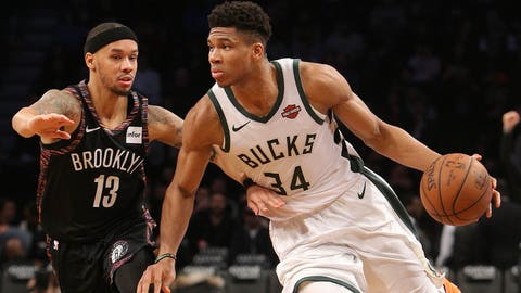 Giannis Antetokounmpo, Bucks forward (⬇ DOWN)