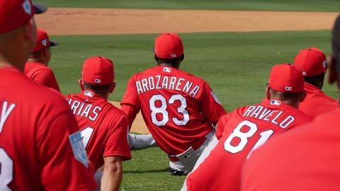 Randy Arozarena,  St. Louis Cardinals Spring Break in Jupiter, Florida.