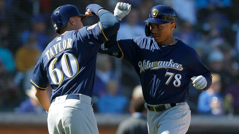 Corey Ray, Brewers outfielder (↑ UP)