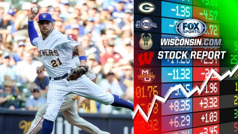 Travis Shaw, Brewers infielder (↑ UP)