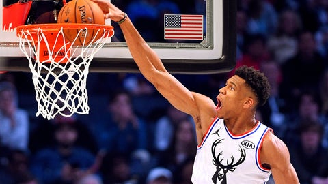 Giannis Antetokounmpo, Bucks forward (↑ UP)