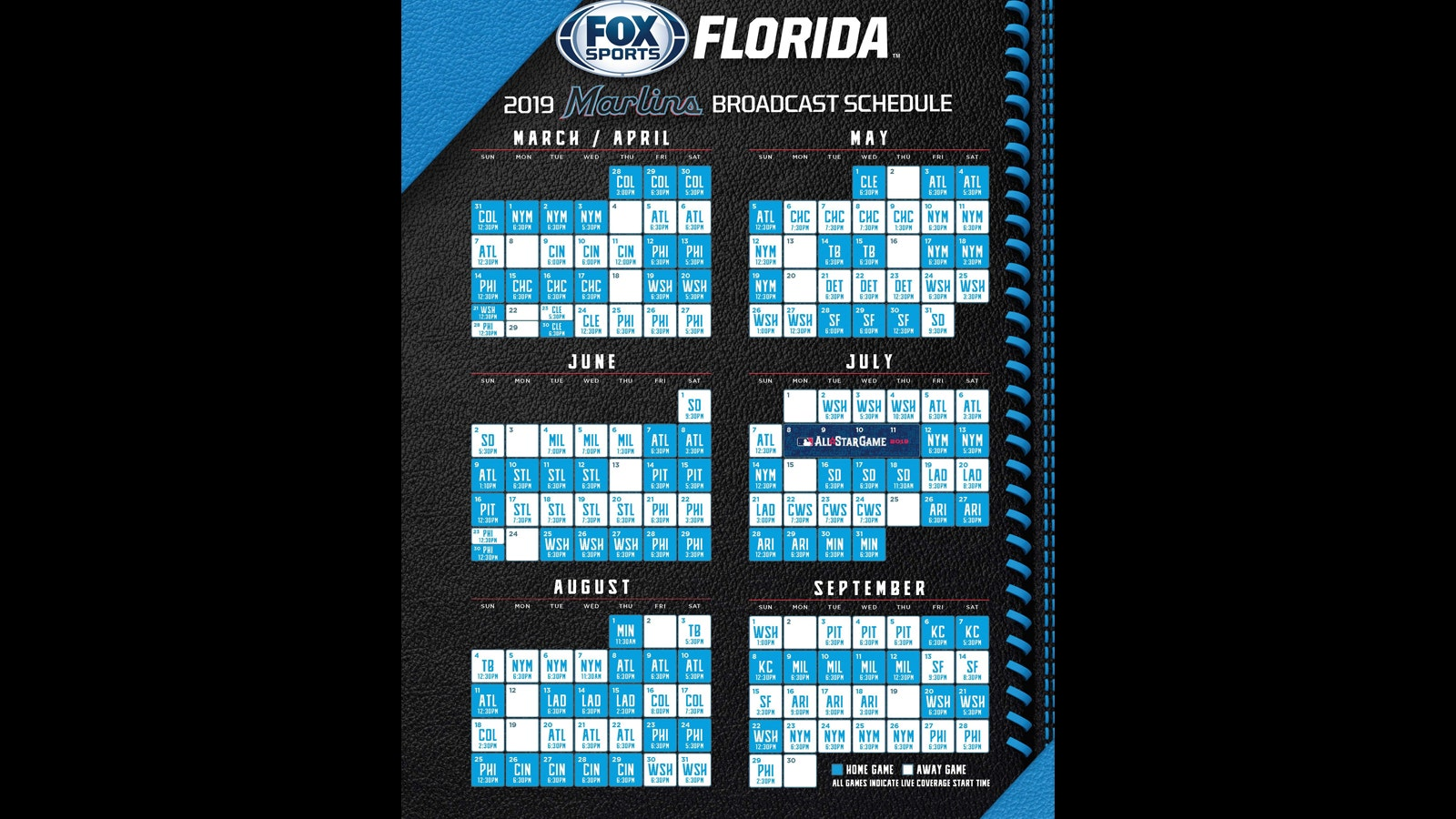 photograph relating to Atlanta Braves Tv Schedule Printable identified as FOX Sporting activities Florida announces Miami Marlins Television routine for