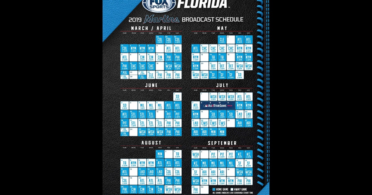 Fox Sports Florida Announces Miami Marlins Tv Schedule For 2019