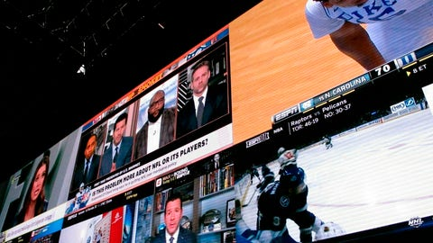 <p>               FILE - This March 8, 2019, file photo shows giants video screens inside the sports betting lounge at the Tropicana casino in Atlantic City N.J. The biggest dice game around was just a few miles down the road when Jimmy Vaccaro was growing up in the Pittsburgh area. So was Comet News in Braddock, where those in the know slipped behind the green door into a back room where bookies offered action on both ponies and games. (AP Photo/Wayne Parry, File)             </p>