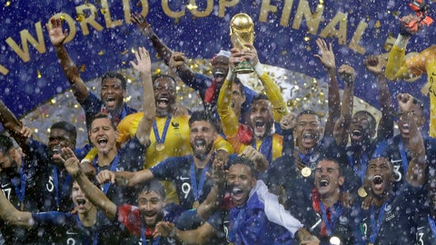 <p>               FILE - In this Sunday, July 15, 2018 file photo, France goalkeeper Hugo Lloris holds the trophy aloft after the final match between France and Croatia at the 2018 soccer World Cup in the Luzhniki Stadium in Moscow, Russia. France won the final 4-2. FIFA says its committee for organizing competitions confirms the Asian Football Confederation will kick off the global program. This gives FIFA until early-June to decide on organizing a 32-team World Cup hosted by Qatar, or a 48-team event spreading games around the Middle East. (AP Photo/Matthias Schrader, File)             </p>
