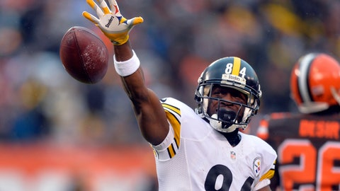 <p>               FILE- In this Jan. 3, 2016, file photo, Pittsburgh Steelers wide receiver Antonio Brown (84) reacts after a first down catch during the first half of an NFL football game against the Cleveland Browns, in Cleveland. Brown has caught a lot of criticism for orchestrating his departure from Pittsburgh, and landing a hefty pay raise as part of the deal. Maybe, if the contracts were fully guaranteed, stars such as Brown wouldn't have to go to such lengths to make sure they're compensated fairly. (AP Photo/David Richard, File)             </p>