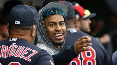 <p>               FILE - In this Monday, March 11, 2019, file photo, injured Cleveland Indians shortstop Francisco Lindor talks to a teammate in the dugout during the fourth inning of a spring training baseball game against the Cincinnati Reds in Goodyear, Ariz. Lindor will take a major step in his recovery from a calf strain by playing in a controlled minor league game. (AP Photo/Ross D. Franklin, File)             </p>