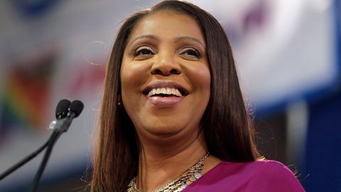 <p>               FILE - In this Jan. 6, 2019 file photo, Attorney General of New York, Letitia James, smiles during an inauguration ceremony in New York. James has opened a civil investigation into President Donald Trump's business dealings, taking action after his former lawyer told Congress he exaggerated his wealth to obtain loans. A person familiar with the inquiry said James issued subpoenas Monday, March 11, to Deutsche Bank and Investors Bank seeking records related to four Trump real estate projects and his failed 2014 bid to buy the NFL's Buffalo Bills.  (AP Photo/Seth Wenig, File)             </p>