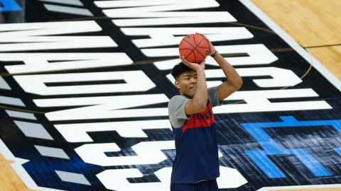 <p>               Gonzaga's Rui Hachimura shoots during practice for the NCAA men's college basketball tournament Wednesday, March 20, 2019, in Salt Lake City. Gonzaga plays Fairleigh Dickinson on Thursday. (AP Photo/Rick Bowmer)             </p>
