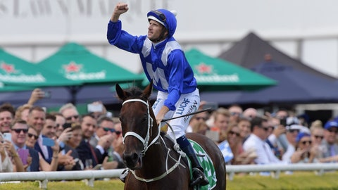 <p>               Jockey Hugh Bowman returns to scale after riding Winx to victory in race 6 of the TAB Chipping Norton Stakes during Chipping Norton Stakes Day at Royal Randwick Racecourse in Sydney, Australia Saturday, March 2, 2019. Seven-year-old mare Winx set a world record Saturday for Group One wins following a come-from-behind victory in the Chipping Norton Stakes at Royal Randwick. (Simon Bullard/AAP Photo via AP)             </p>