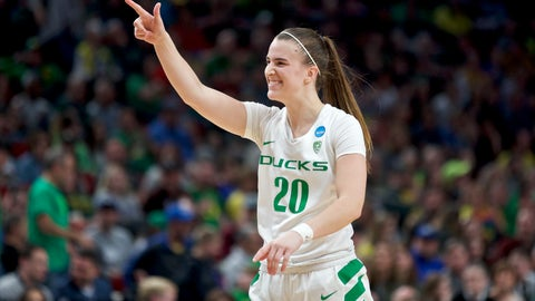 <p>               Oregon guard Sabrina Ionescu gestures toward the bench during the second half of the team's regional semifinal against South Dakota State in the NCAA women's college basketball tournament Friday, March 29, 2019, in Portland, Ore. Oregon won 63-53. (AP Photo/Craig Mitchelldyer)             </p>
