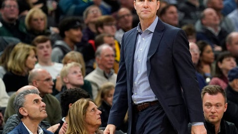 <p>               FILE - In this Friday, Nov. 16, 2018 file photo, Chicago Bulls head coach Fred Hoiberg watches during the first half of an NBA basketball game against the Milwaukee Bucks in Milwaukee. A person with knowledge of the negotiations has told The Associated Press that Nebraska has finalized a deal to hire Fred Hoiberg as its coach. The person spoke to the AP on condition of anonymity Saturday, March 30, 2019 because the school has not announced the hiring. (AP Photo/Morry Gash, File)             </p>