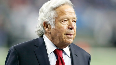 <p>               FILE - In this Sept. 23, 2018, file photo, New England Patriots owner Robert Kraft walks on the sidelines before an NFL football game against the Detroit Lions in Detroit. Kraft has pleaded not guilty to two counts of misdemeanor solicitation of prostitution. Kraft's attorney Jack Goldberger filed the written plea in Palm Beach County, Fla., court documents released Thursday, Feb. 28, 2019. The 77-year-old Kraft is requesting a non-jury trial. (AP Photo/Carlos Osorio, File)             </p>