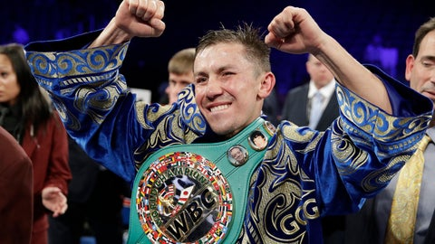 <p>               FILE - In this Sept. 17, 2017, file photo, Gennady Golovkin reacts following a middleweight title against Canelo Alvarez, in Las Vegas. Golovkin will return to the ring in June after signing a multiyear deal Friday, March 8, 2019, with DAZN, which gives him the possibility of a third fight with Alvarez. No date or opponent was announced for the fight, which will be Golovkin's first since being edged by Alvarez last September in their second bout after they fought to a draw in the first one. (AP Photo/John Locher, File)             </p>