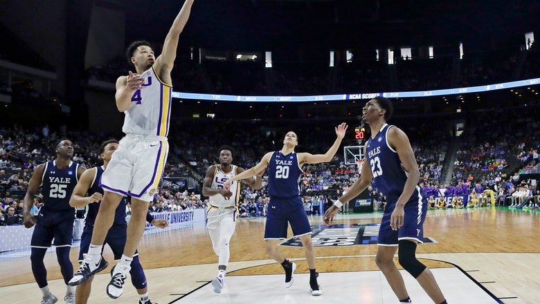 Mays scores 19, LSU escapes with 79-74 win against Yale