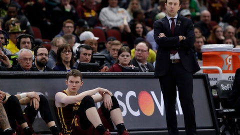 <p>               Minnesota head coach Richard Pitino watches during the second half of an NCAA college basketball game against Michigan in the semifinals of the Big Ten Conference tournament, Saturday, March 16, 2019, in Chicago. (AP Photo/Nam Y. Huh)             </p>