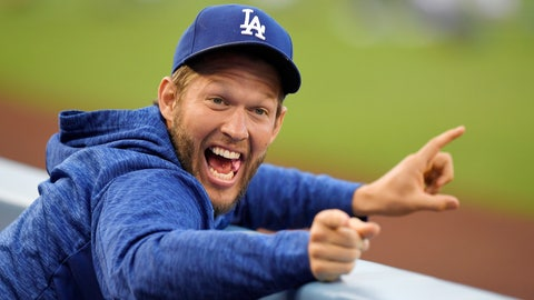 <p>               FILE - In this May 25, 2018, file photo, Los Angeles Dodgers pitcher Clayton Kershaw jokes around in the dugout prior to a baseball game against the San Diego Padres in Los Angeles. The photo was part of a series of images by photographer Mark J. Terrill which won the Thomas V. diLustro best portfolio award for 2018 given out by the Associated Press Sports Editors during their annual winter meeting in in Lake Buena Vista, Fla. (AP Photo/Mark J. Terrill, File)             </p>