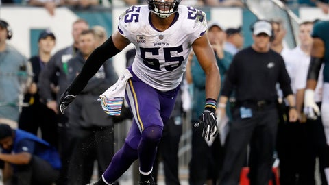 <p>               FILE - In this Oct. 7, 2018, file photo, Minnesota Vikings linebacker Anthony Barr chases the action during an NFL football game against the Philadelphia Eagles in Philadelphia. The Vikings are keeping the heart of their defense intact with a hefty commitment to linebacker Anthony Barr, who changed his mind after an initial agreement to join the New York Jets. (Winslow Townson/AP Images for Panini, File)             </p>