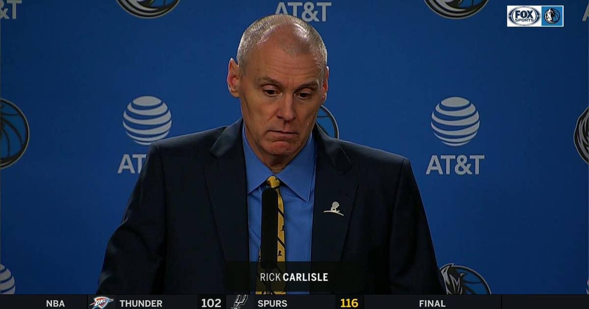 Rick Carlisle on Dallas loss to Memphis