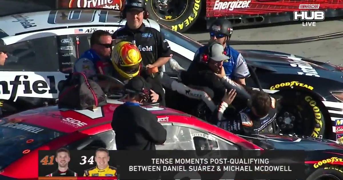 Drew Blickensderfer talks about his role in the Daniel Suárez and Michael McDowell scuffle
