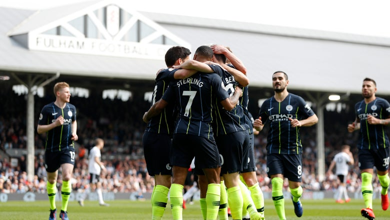 Man City top of Premier League after beating Fulham 2-0