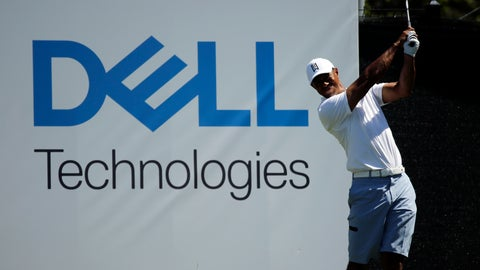 <p>               Tiger Woods hits from the 15th tee during a practice round at the Dell Match Play Championship golf tournament, Tuesday, March 26, 2019, in Austin, Texas. (AP Photo/Eric Gay)             </p>