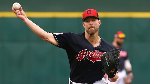<p>               FILE - In this March 11, 2019, file photo, Cleveland Indians starting pitcher Corey Kluber throws a warm up pitch before a spring training baseball game against the Cincinnati Reds in Goodyear, Ariz.  The Indians have their sights set on their first World Series title since 1948, but to get it they'll have to replenish some power lost during the offseason and get by league powers Houston, New York and Boston.  (AP Photo/Ross D. Franklin, File)             </p>