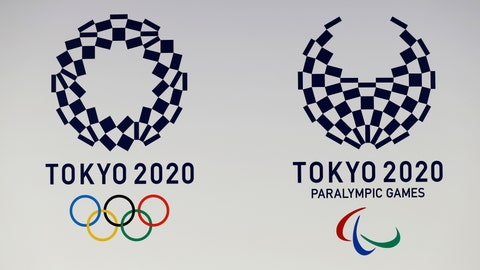 <p>               FILE - In this April 25, 2016, file photo, the Tokyo Organizing Committee of the Olympic and Paralympic Games displays the new official logos of the 2020 Tokyo Olympics, left, and the 2020 Tokyo Paralympic Games. The Tokyo Olympic clock has hit 500 days to go. Organizers marked the milestone on Tuesday, March 12, 2019, unveiling the stylized pictogram figures for the Tokyo Olympics. (AP Photo/Shizuo Kambayashi, File)             </p>