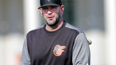 <p>               FILE - In this Feb. 15, 2019, file photo, Baltimore Orioles manager Brandon Hyde walks on the field at their spring training baseball facility in Sarasota, Fla. The rookie manager is putting his stamp on the Orioles this spring training, one fundamental at a time. (AP Photo/Gerald Herbert, File)             </p>