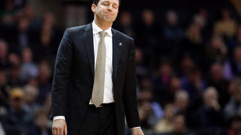 <p>               FILE - In this Jan. 19, 2019, file photo, Vanderbilt head coach Bryce Drew reacts to a call in an NCAA college basketball game against Mississippi State in Nashville, Tenn. Drew was fired Friday, March 22 after the worst season in the history of Vanderbilt men's basketball. Vanderbilt went 9-23 and was the first team in 65 years to go winless in the Southeastern Conference. Drew went 40-59 record in three seasons with the Commodores. (AP Photo/Mark Humphrey, File)             </p>