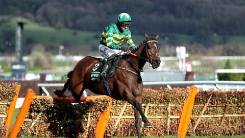 <p>               Espoir D'Allen ridden by jockey Mark Walsh goes on to win the Hurdle Challenge on Champion Day of the 2019 Cheltenham Festival at Cheltenham Racecourse, England Tuesday March 12, 2019. (Simon Cooper/PA via AP)             </p>